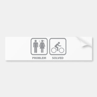 Problem Solved Cycling Bumper Sticker