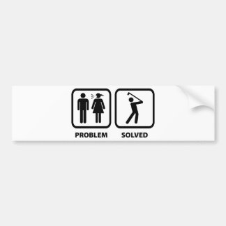 Problem Solved Golfing Bumper Sticker