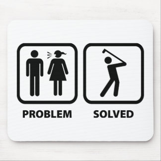 Problem Solved Golfing Mouse Pad
