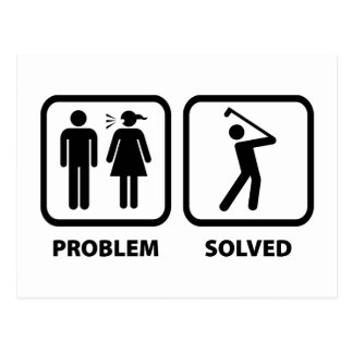 Problem Solved Golfing Postcard