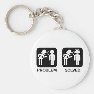 Problem Solved Keychain