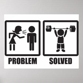 Problem Solved - Overhead Press Poster