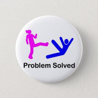 Problem Solved Pinback Button