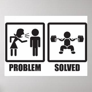 Problem Solved - Squat Poster