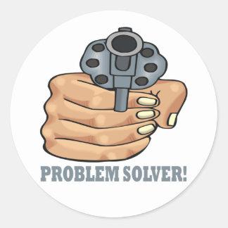 Problem Solver Classic Round Sticker