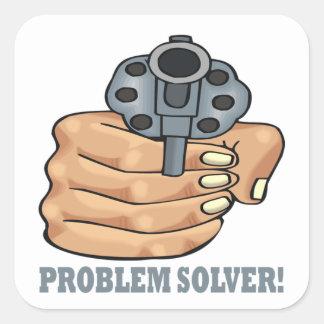 Problem Solver Square Sticker