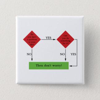 Problem solving pinback button