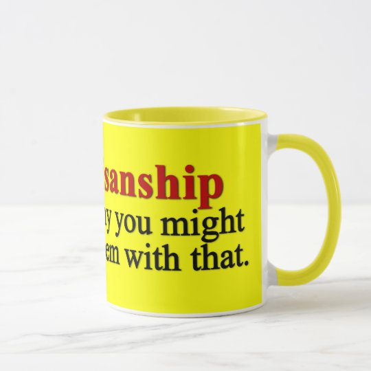 Problem with bipartisanship mug