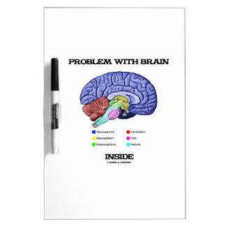 Problem With Brain Inside (Brain Anatomy) Dry Erase Board