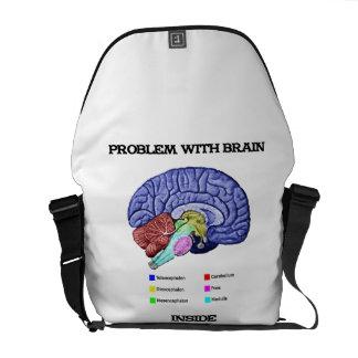 Problem With Brain Inside (Brain Anatomy) Messenger Bag