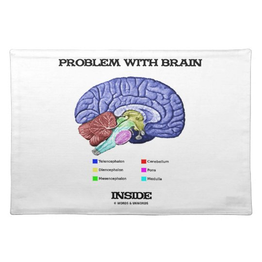 Problem With Brain Inside (Brain Anatomy) Placemat
