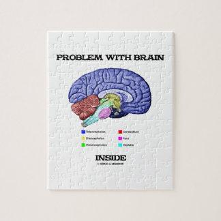 Problema con el interior del cerebro (anatomía del rompecabeza con fotos