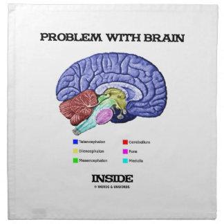 Problema con el interior del cerebro (anatomía del servilletas imprimidas