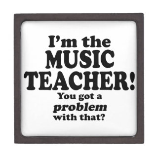 Problema con ese - profesor de música cajas de recuerdo de calidad
