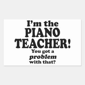 Problema con ese - profesor de piano pegatina rectangular