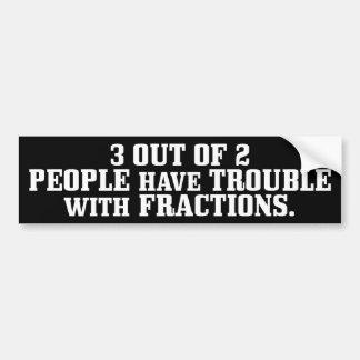 Problema con las fracciones pegatina para auto