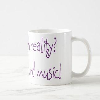 ¿Problema con realidad? Ninguna música de fondo Taza Básica Blanca