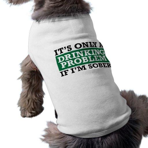 Problema de consumición - verde camisa de perrito