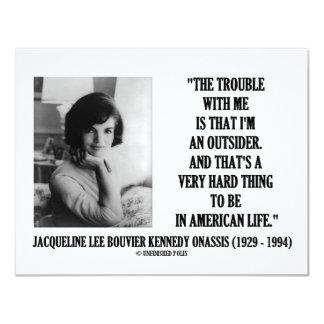 Problema de Jacoba Kennedy conmigo cita del Invitación 10,8 X 13,9 Cm