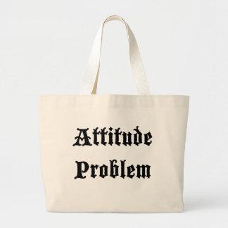 Problema de la actitud bolsa tela grande