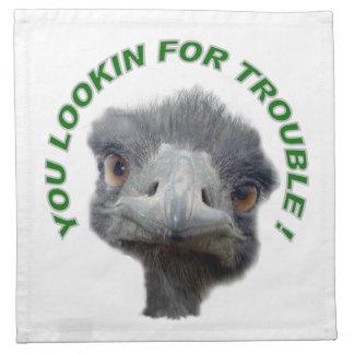 Problema de la avestruz servilleta imprimida