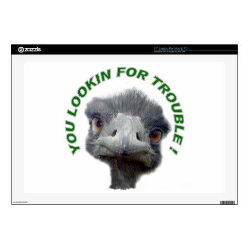Problema de la avestruz 43,2cm portátil calcomanías