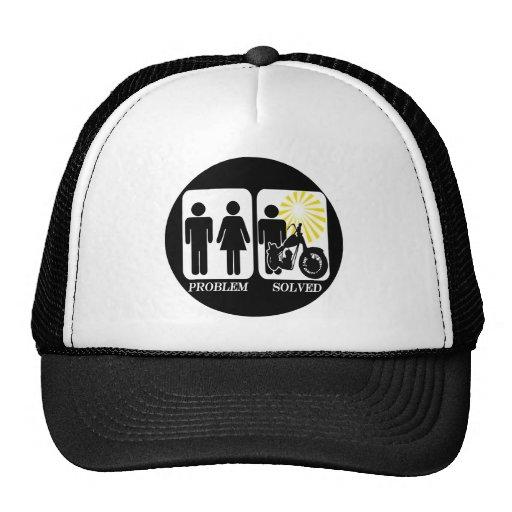 Problema de la moto solucionado gorra