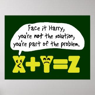 Problema de matemáticas divertido poster