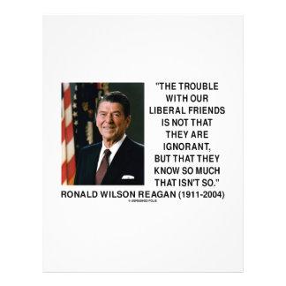 Problema de Ronald Reagan con cita liberal de los  Tarjetas Publicitarias