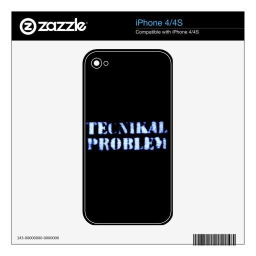 Problema de Tecnikal Skins Para iPhone 4
