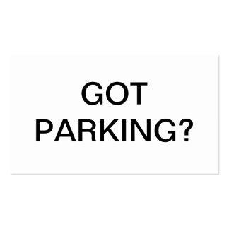 Problema del estacionamiento tarjetas de visita