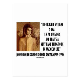 Problema del retrato de Jackie Kennedy conmigo for Tarjetas Postales
