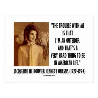 Problema del retrato de Jackie Kennedy conmigo Postal