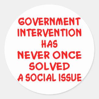 Problema social nunca solucionado de la pegatina redonda