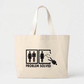 Problema solucionado - hombre bolsa de mano