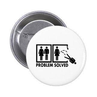 Problema solucionado - hombre pin redondo 5 cm