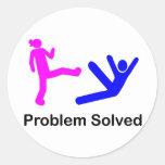 Problema solucionado pegatinas redondas