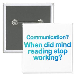 Problemas de la comunicación pin cuadrado