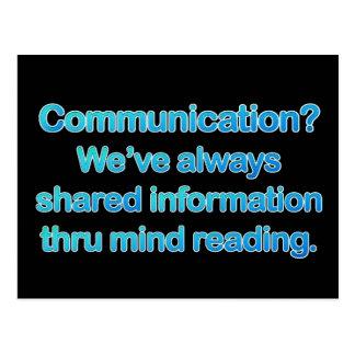 Problemas de la comunicación tarjetas postales