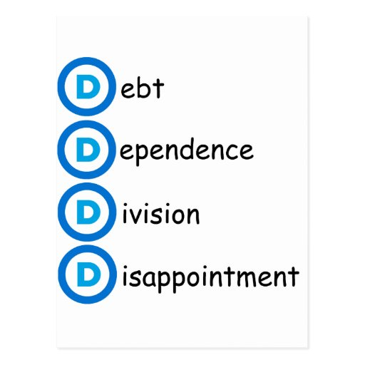 Problemas del logotipo del fiesta de Demócrata Postales