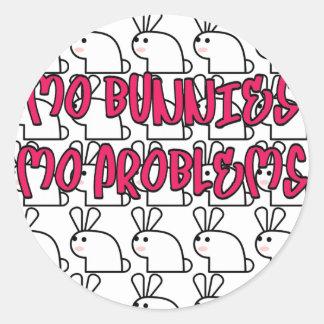 Problemas del MES de los conejitos del MES Pegatinas Redondas