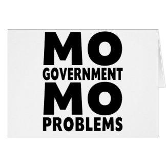 Problemas del MES del gobierno del MES Tarjeta De Felicitación