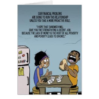 Problemas financieros tarjeta de felicitación
