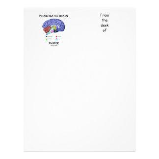Problematic Brain Inside (Brain Anatomy) Letterhead