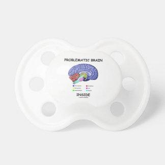 Problematic Brain Inside (Brain Anatomy) Baby Pacifier