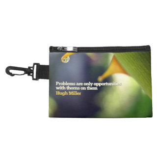 Problems as Opportunities Motivational Clip On Bag Accessory Bag
