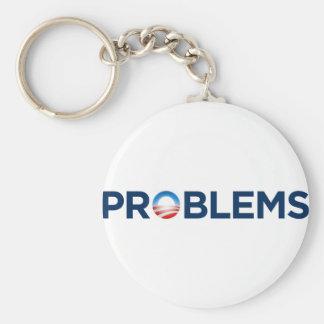 PROBLEMS BASIC ROUND BUTTON KEYCHAIN