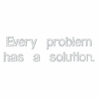Problems-Solutions Embroidered Hoodie