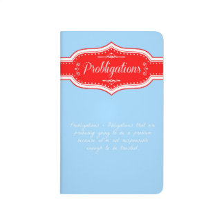 Probligations notebook.  (Problematic Obligations) Journal