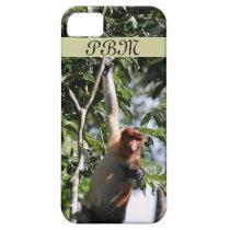 Proboscis Monkey in Borneo Rainforest iPhone SE/5/5s Case